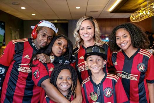 Lil Wayne Celebrates His Son DMC III 10th Birthday At The Atlanta United vs Chicago Fire Soccer Game