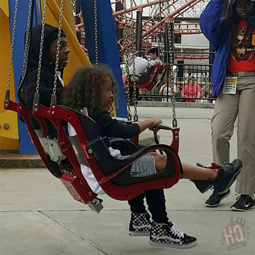 Lil Wayne Celebrates His Son Dwayne Michael Carter III 7th Birthday At Six Flags In Atlanta