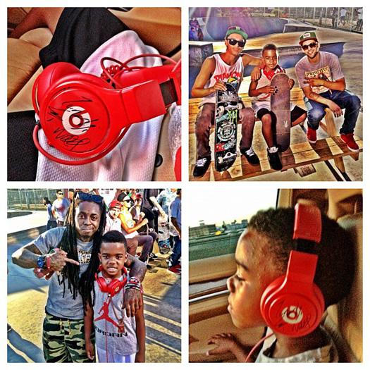 Lil Wayne On Set Of Games Celebration Video At Belvedere Skatepark
