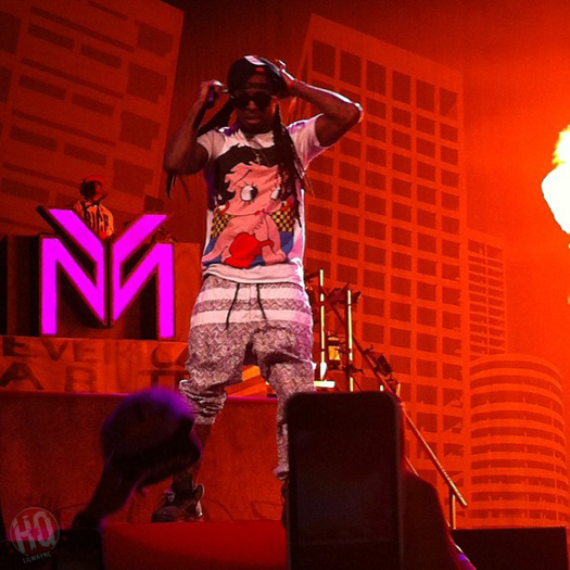 Lil Wayne Performs Live In Chicago On Americas Most Wanted Tour