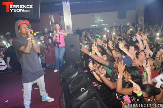 Lil Wayne Chills In VIP & Performs Live At Aqua Nightclub & Lounge In Jacksonville