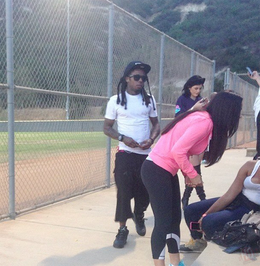 Lil Wayne Attends Chris Brown Kickn It For Charity Celebrity Kickball Game In Glendale