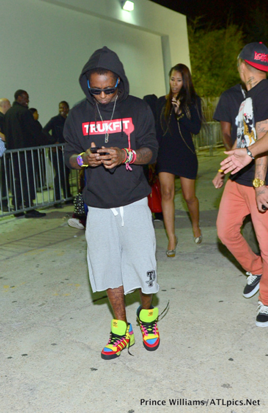 Lil Wayne Parties At Club Compound In Atlanta