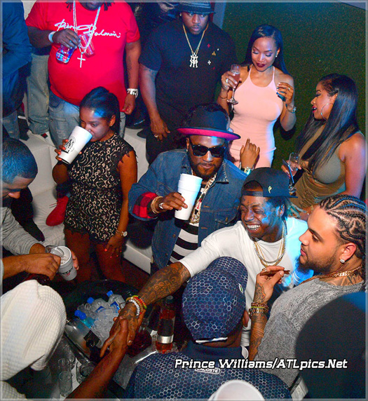 lil wayne attends compound nightclub in atlanta with toya