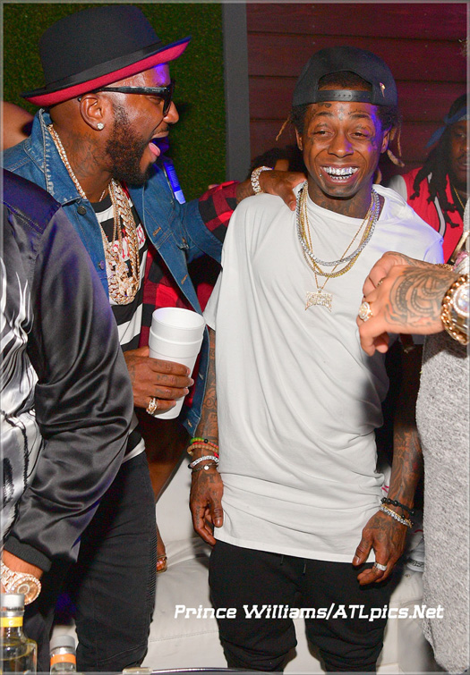 Lil Wayne Attends Compound Nightclub In Atlanta With Toya Wright, Young Jeezy, DJ Khaled & Jim Jones