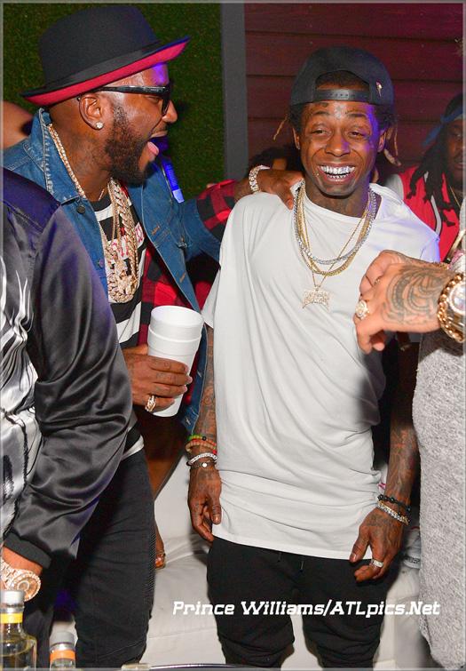 Lil Wayne Attends Compound Nightclub In Atlanta With Toya Wright, Young Jeezy, DJ Khaled & Jim Jones