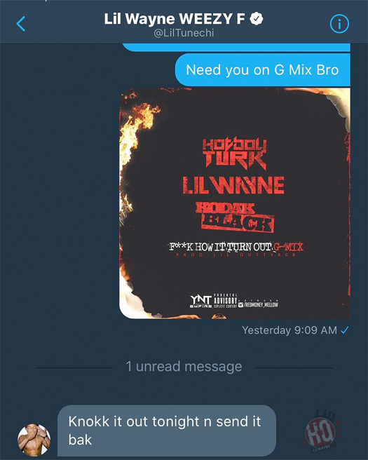 Lil Wayne Confirms He Is Going To Be On Turk Fuck How It Turn Out G-Mix