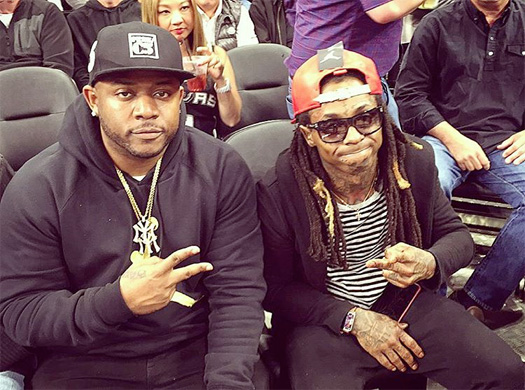 Lil Wayne Sits Courtside At The Warriors vs. Spurs NBA Game To Watch Steph Curry
