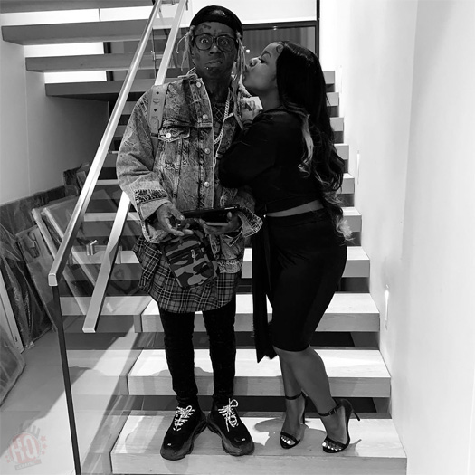 Lil Wayne & Daughter Reginae Carter Joke Around At His Private Studio In Miami