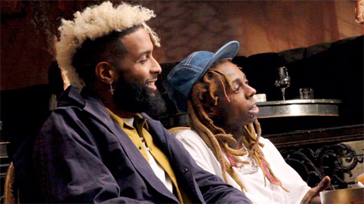 Odell Beckham Jr Jams Out & Raps Along To Classic Lil Wayne Songs