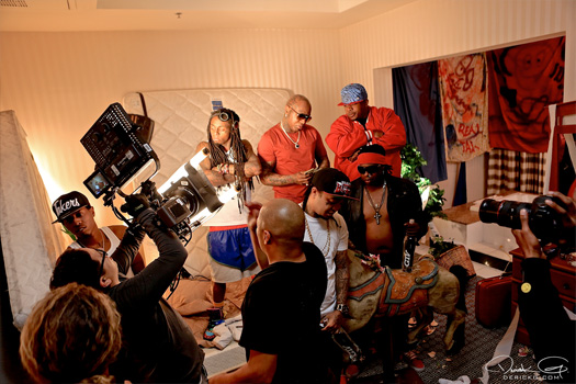 Behind The Scenes Of Lil Wayne & Detail No Worries Video Shoot