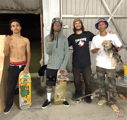 Lil Wayne Nearly Pulls Off A Cool Skating Trick At Paul Rodriguez Skate Park In Los Angeles