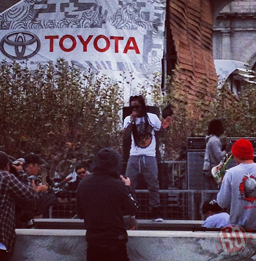 Lil Wayne Watches & Performs At The Toyota City Championships