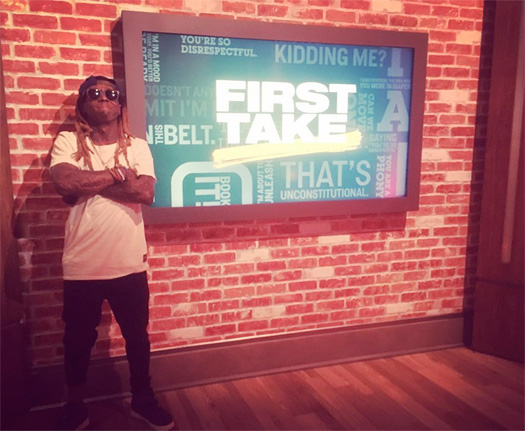Lil Wayne Discusses What It Was Like Debating With The First Take Hosts Stephen A Smith & Max Kellerman