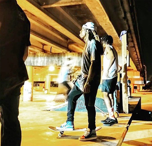 Lil Wayne Donates Skate Ramps To A Local Skatepark In His Hometown New Orleans