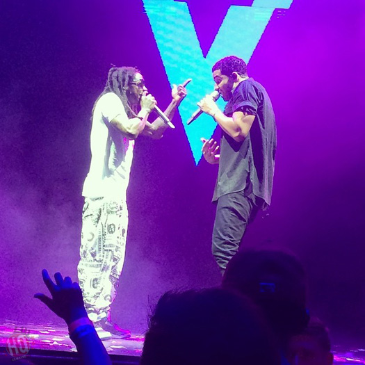 The Drake vs Lil Wayne Tour Stops In Noblesville Indiana