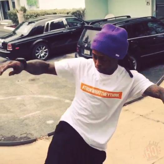 Lil Wayne Has An Early Morning Skating Session At The Hit Factory Recording Studio Car Park