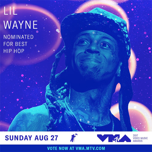 Lil Wayne Earns A Nomination At The 2017 MTV Video Music Awards