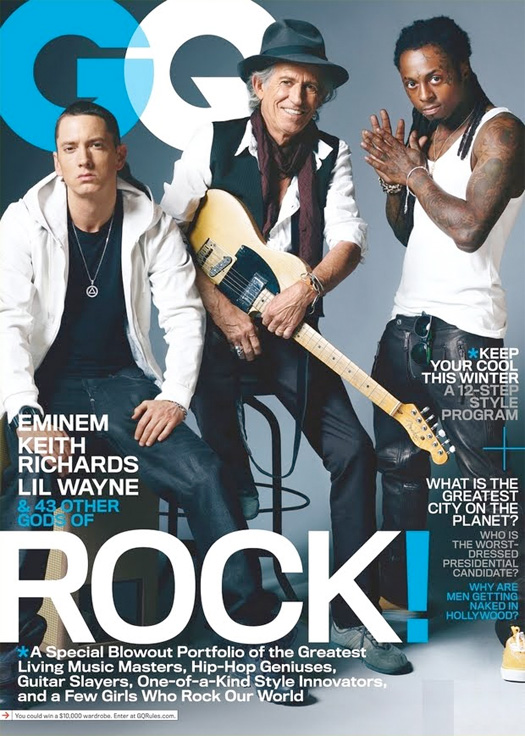 Lil Wayne & Eminem Cover GQ Magazine November Issue