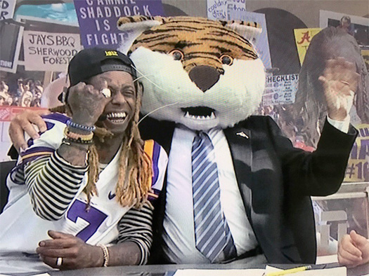Lil Wayne Appearance On ESPN College GameDay Show