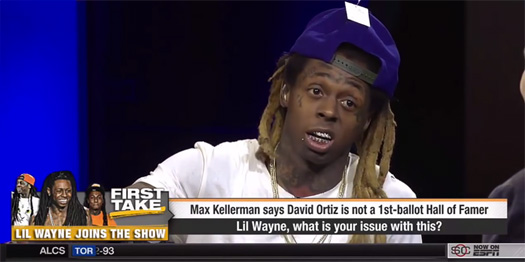 Lil Wayne Appears On ESPN First Take Show, Talks David Ortiz, Brett Favre, Tony Romo, Kobe Bryant & More