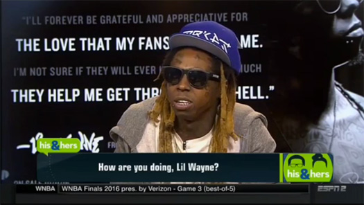 Lil Wayne Appears On ESPN His & Hers Show, Talks Retirement Tweets, Chris Bosh, Label Situation, His Kids, Rikers Island & More