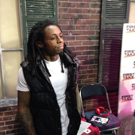 Lil Wayne Backstage At ESPN First Take Show In New Orleans
