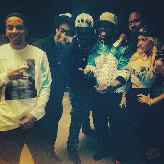 """... Birdman Shoot """"We Alright"""" Music Video With The Young Money Crew"""