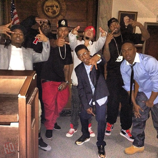 Their Young Money Crew...