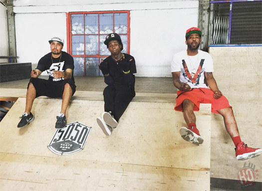 Lil Wayne & Evan Hernandez Go Skateboarding At 5050 Skatepark In Staten Island New York