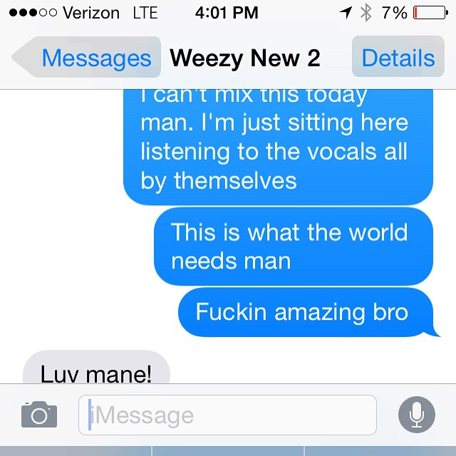 """Lil Wayne & His Mixing Engineer Hype Up The """"Free Weezy Album"""""""