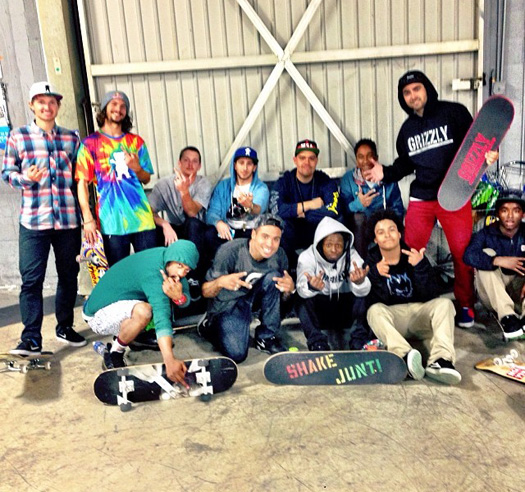 Lil Wayne Makes A FaceTime Call With A Fan While At Paul Rodriguez Private Skate Park