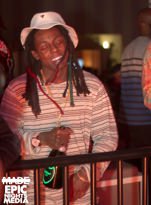 Lil Wayne Attends & Performs Live At Foxtail Pool Club In Las Vegas