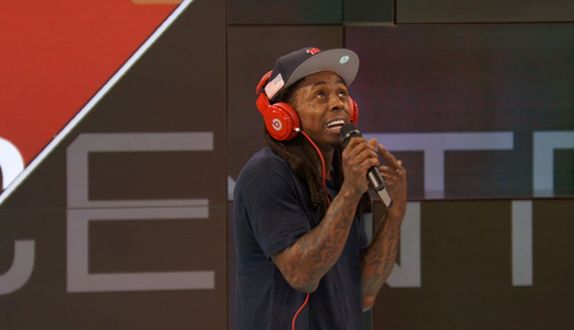 Lil Wayne Freestyles Over SportsCenter Theme Song, Gets Interviewed & Plays A Game Of Pop-A-Shot Basketball
