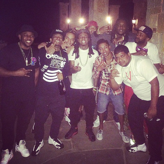 Lil Wayne Close Friends Throw Him A Surprise Birthday Party At Lure Nightclub