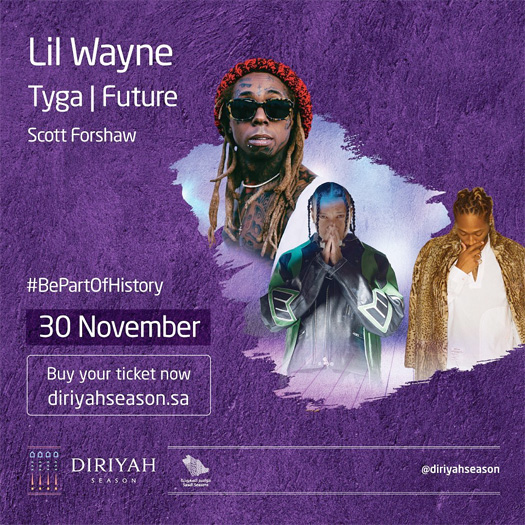 Lil Wayne, Future & Tyga To Headline 2019 Diriyah Music Festival In Saudi Arabia