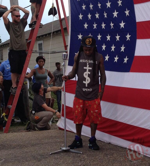 "Colorado Shooting Lil Wayne Video: Lil Wayne Shoots ""God Bless Amerika"" Music Video In"