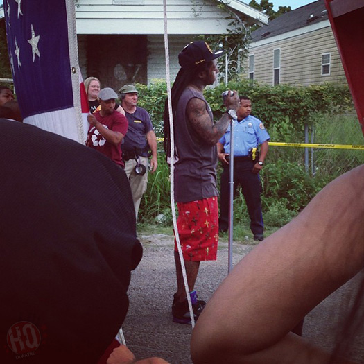 Lil Wayne Shoots God Bless Amerika Music Video In Hollygrove New Orleans