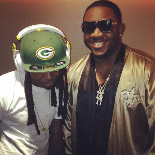 Lil Wayne Attends The Green Bay Packers vs. New Orleans ...