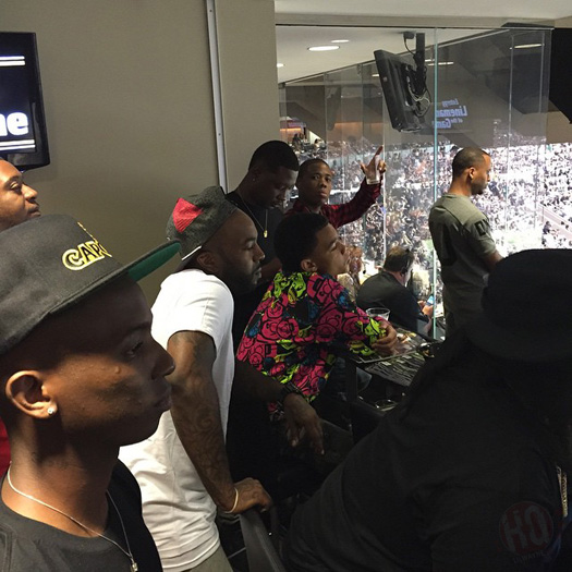 Lil Wayne Attends The Green Bay Packers vs New Orleans Saints NFL Game