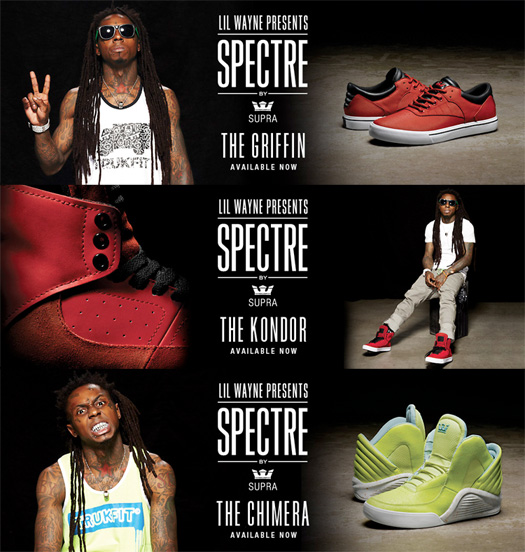 Lil Wayne Griffin, Kondor & Chimera SUPRA Sneakers All Available To Buy