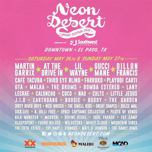Lil Wayne & Gucci Mane To Headline The 2018 Neon Desert Music Festival