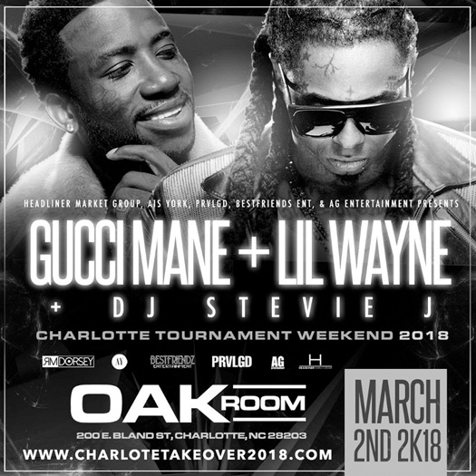 Lil Wayne & Gucci Mane To Host An Event Together In North Carolina Over CIAA Weekend