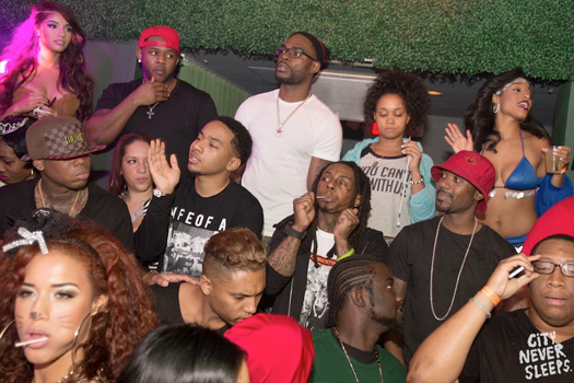 Lil Wayne Celebrates Halloween At IVY Nightclub In Miami With Ray J, Drake & Others