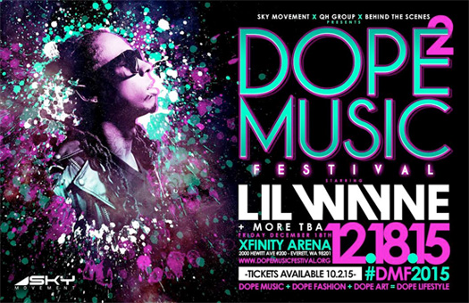 Lil Wayne To Headline The 2015 Dope Music Festival In Washington