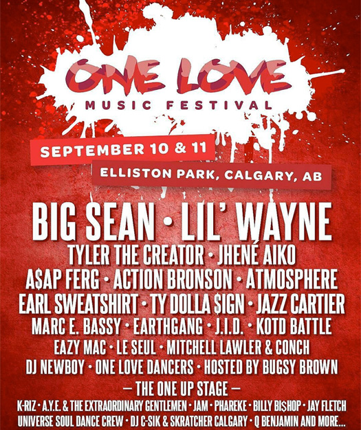 Lil Wayne To Headline The 2016 One Love Music Festival In Western Canada