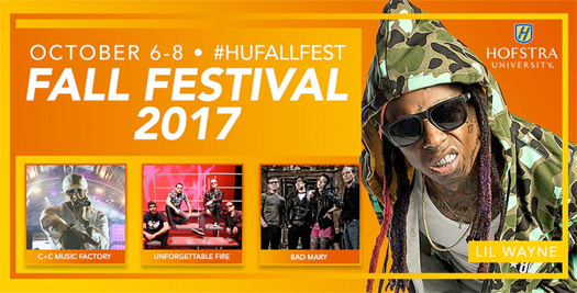 Lil Wayne To Headline The 2017 Fall Festival At Hofstra University In Long Island New York