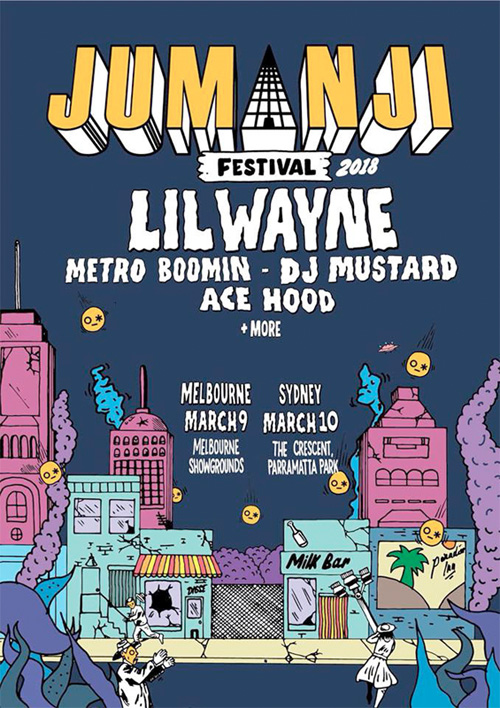 Lil Wayne To Headline The 2018 Jumanji Festival In Melbourne & Sydney Australia