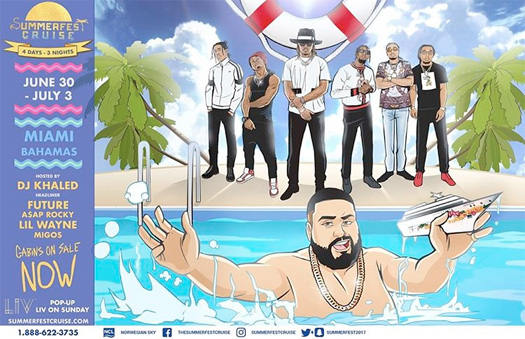 Lil Wayne To Headline DJ Khaled Summerfest Cruise From Miami To The Bahamas