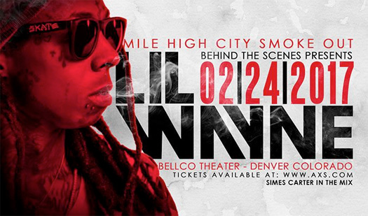 Lil Wayne To Headline The Mile High Smoke Out Concert In Denver Colorado
